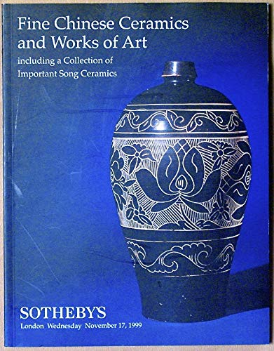 (Sotheby's London Fine Chinese Ceramics and Works of Art Including a Collection of Important Song Ceramics November 17, 1999 List of Prices Realized is)