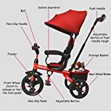 INFANS Kids Tricycle, 4 in 1 Stroll Trike with