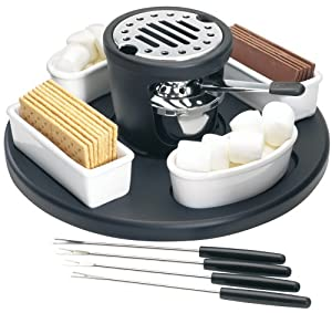 "Amazon.com: Casa Moda ""S'mores"" Maker: Fondue Pots: Kitchen & Dining"