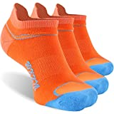 Ankle Running Socks, WXXM Low Cut Comfort Cotton Cushioned Performance Walking Tab Socks with Arch Support 1/3/6 Pairs