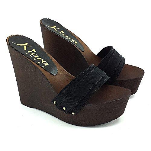 kiara FEMME Chaussure Noir avec LA shoes Cale KZ3101 qZqrH8