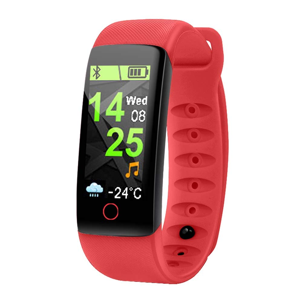 CYHY Pulsera Inteligente IT109 Táctil 0,96 Pulgadas Medidor Deportivo Paso Presión cardíaca Monitoreo de presión Arterial Pulsera en Color