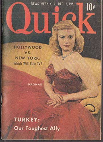 QUICK 12/3 1951 Dagmar; Turkey; felt fashions; electronic puppets