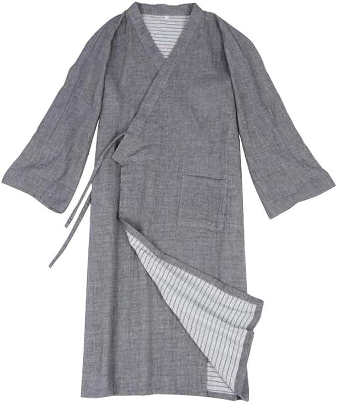 Camisón de algodón Pijama Largo Albornoz Kimono japonés Falda ...