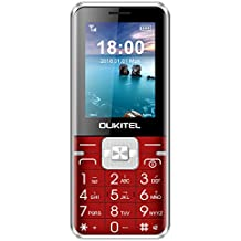 Unlocked Cell Phones, Oukitel L1 Dual SIM GSM Cell Phone 8W Camera Mobile Phone for Elderly People 2500mAh Big Battery-Red