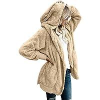 LookbookStore Oversized de la mujer frente abierto con capucha bolsillos Draped chaqueta de punto Escudo