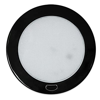 "Dream Lighting 12Volt LED Panel Light with Switch - 5"" Black Shell Ceiling Downlight - Warm White Panel Downlight for Kitchen, Roof, Cabinet and Cabin: Automotive"