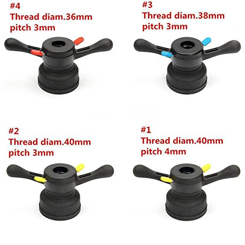 XK USA 36/38/40mm Thread 3mm/4mm Wheel Balancer Quick Release Hub Wing Nut Tire Tool