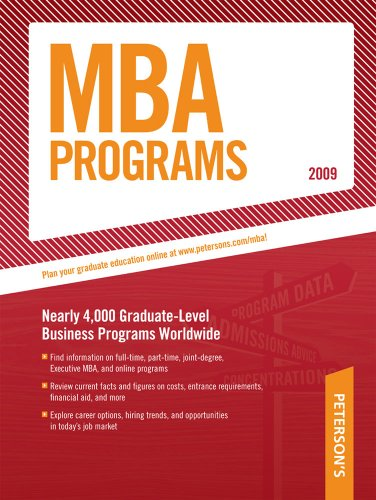 MBA Programs - 2009, Guide to (Peterson's MBA Programs)