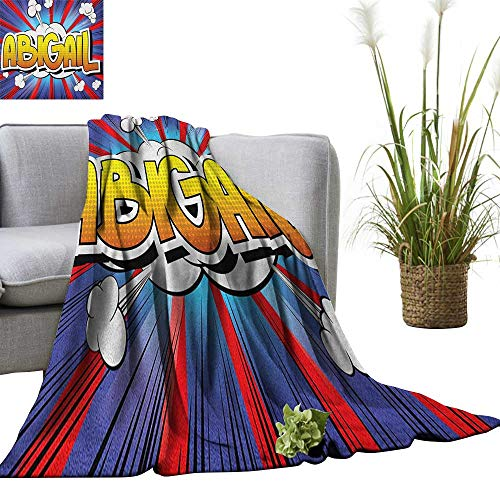 Superlucky Abigail Super Soft Lightweight Blanket Comic Book Style Female Name with Explosion Effects on Abstract Pop Background 36