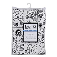 Kidiway 3044 kidicomfort Fitted crib sheet - 100 % Cotton - Black Bird