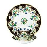 Royal Doulton-Tazza da tè con piattino, 20 cm, 'Duchess 4851,40 (1910 Piatto cm, nero, Set da 3