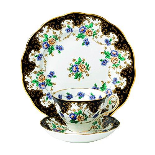 (Royal Albert 40017587 100 Years 1910 Teacup, Saucer & Plate Set, 8