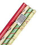 Best Paper Christmas - Hallmark Christmas Wrapping Paper (Merry Christmas, 4 Pack) Review