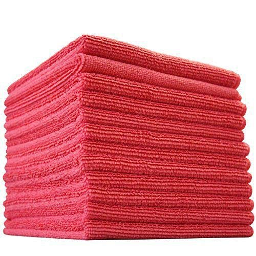 ((12-Pack) 12 in. x 12 in. Commercial Grade All-Purpose Microfiber HIGHLY ABSORBENT, LINT-FREE, STREAK-FREE Cleaning Towels - THE RAG COMPANY)