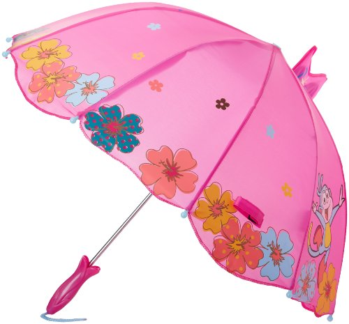 Kidorable Purple Dora the Explorer Umbrella for Girls w/Fun Flower Handle, Pop-Up Butterfly, 1 Size by Nickelodeon (Image #2)