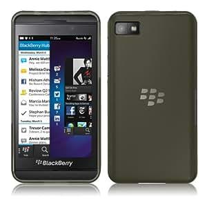 PrimaCase - Funda Carcasa para BlackBerry Z10 en Gel TPU Silicona Transparente - Negro