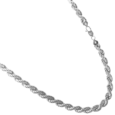 925 Silver Chain >> Amazon Com 8mm Thick Hollow Rope Bracelet Italian 925 Sterling