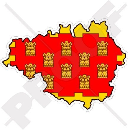 greater manchester map flag england uk britain 43 110mm vinyl bumper sticker