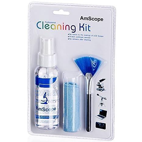 3 en 1 Profesional kit de limpieza para microscopios, cámaras y ...