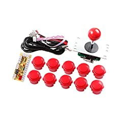 Easyget Arcade Buttons and Joystick Controller DIY Kt for Raspberry Pi, MAME and Windows / Zero Delay USB Encoder to Joystick + 4 / 8 Way 5Pin Joystick + 10 x 30mm Push Buttons The Kit can support for All the Windows systems.Such as Windows X...