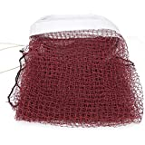 Fictory Badminton Net - Durable Red Badminton Net with Rope Cable Top Replacement Training Practicing Accessory for Backyard