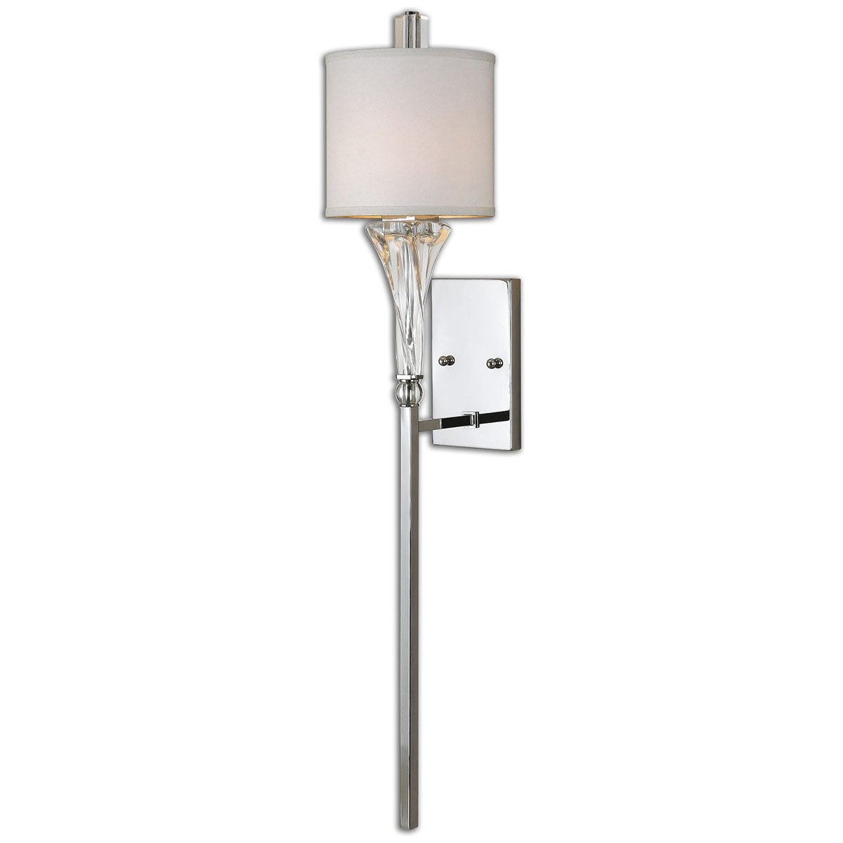 Amazon.com: Uttermost 22495 Grancona 1 Light Wall Sconce, Chrome: Home U0026  Kitchen Part 52