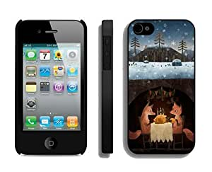 Best Buy Winter Foxes Black iPhone 4 4S Case 1