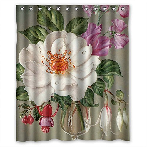 ZEEZON Polyester Christmas Shower Curtains Of Famous Classic Art Painting Flowers Blossoms For Husband Girls Father Kids. Eco Friendly Width X Height / 60 X 72 Inches / W H 150 By 180 Cm(fabric) (Hot Air Balloon Hamper)