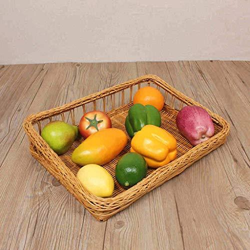 SLH Cocinas de sala de frutas de mimbre Cocinas Dim Sum cesta de pan (Color : Yellow)