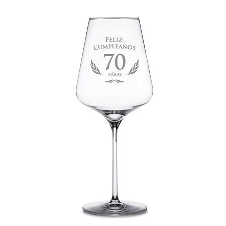 AMAVEL - Copa de Vino Tinto - para el 70 Cumpleaños - Feliz ...
