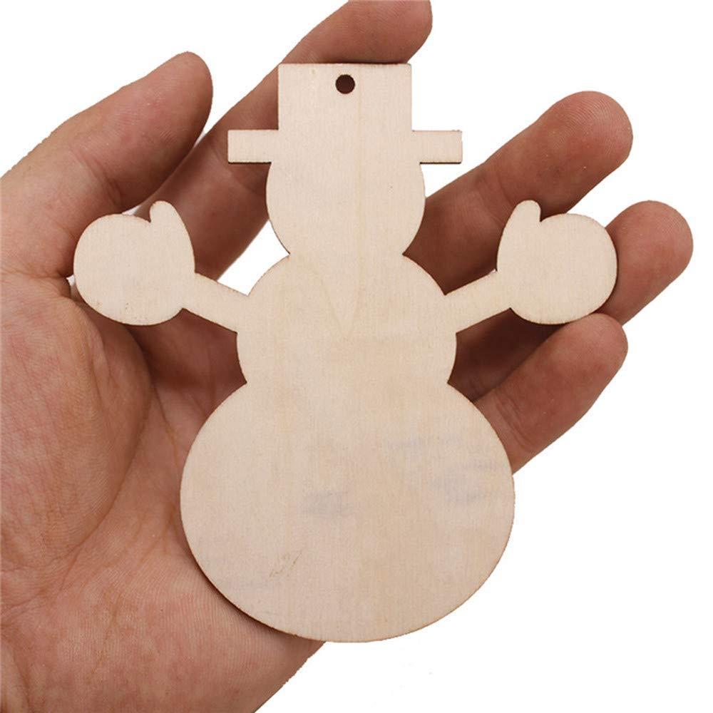10 St/ücke Weihnachten Holz Anh/änger Dekorationen Kinder Dekoration Geschenke DCarry Stone Premium Qualit/ät Weihnachten Anh/änger Ornamente