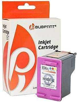 Bubprint Cartuchos de Impresora Compatible con HP 304 XXL - Color ...