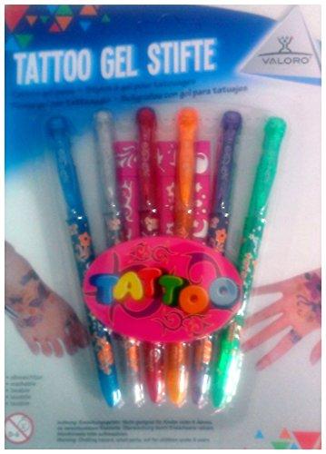 Valoro Tattoo Gel Stifte + Schablone