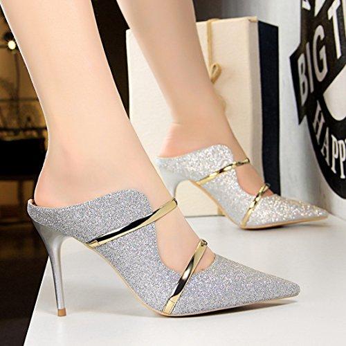Femme DS1788 Silver Escarpins 1 MiyooparkUK Miyoopark pour wAZHvSHq