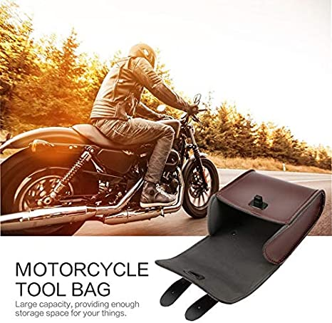 Candybarbar Universal Motorrad-Lenker Werkzeugtasche f/ür Vorderradlenker//Gep/äck//Satteltasche aus Kunstleder Universal Motorrad oder Fahrrad Modern braun