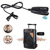 Amyove 2.4G Wireless Lavalier Microphone with Voice Amplifier for Teachers Louder Speaker PA System Karaoke