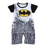 StylesILove Baby Super Heros Strap Jeans Print Romper Onesie