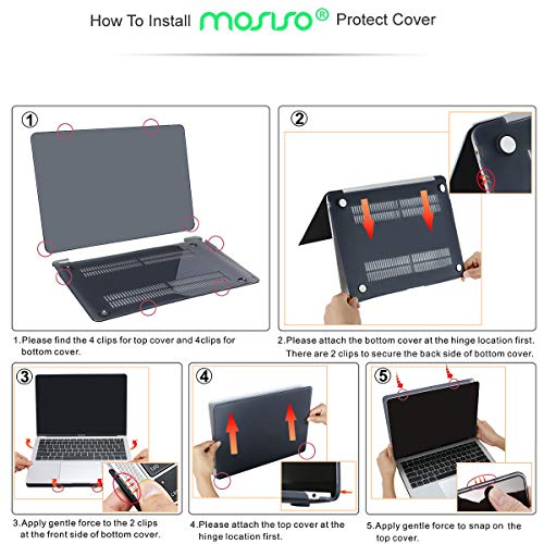 MOSISO MacBook Air 13 Inch Case 2018 Release A1932 with Retina Display, Plastic Hard Shell & Keyboard Cover & Screen Protector & Storage Bag Only Compatible Newest MacBook Air 13, Crystal Clear by MOSISO (Image #6)