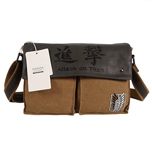 Seamand® Attack on Titan Canvas Shoulder Bag Messenger Bag