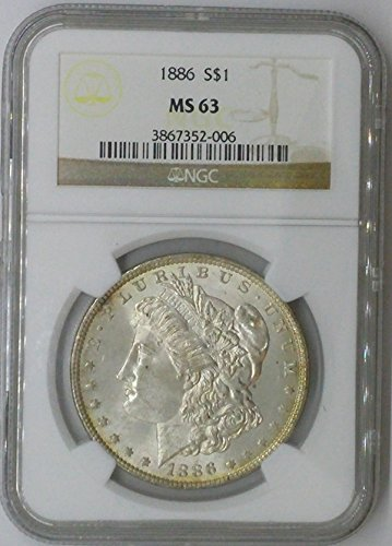 1886 P Morgan $1 MS63 NGC Silver Dollar Old US Coin 90% Silver