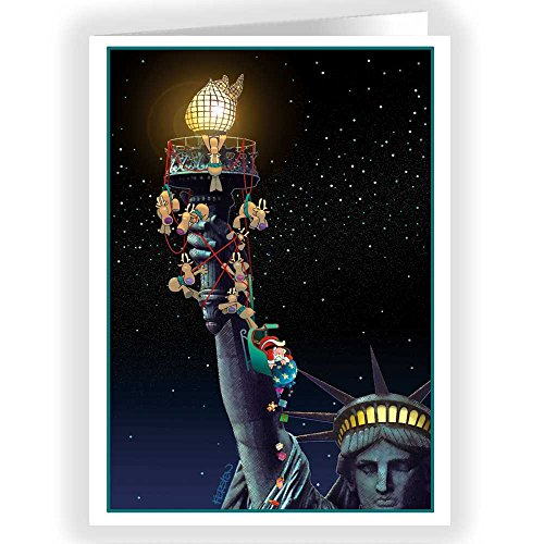 Statue of Liberty Funny Christmas Cards - 18 Cards & Envelopes - New York City