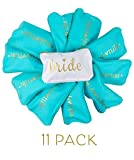 Samantha Margaret Bride Tribe and Bride Makeup Bags in Turquoise - 11 Pack