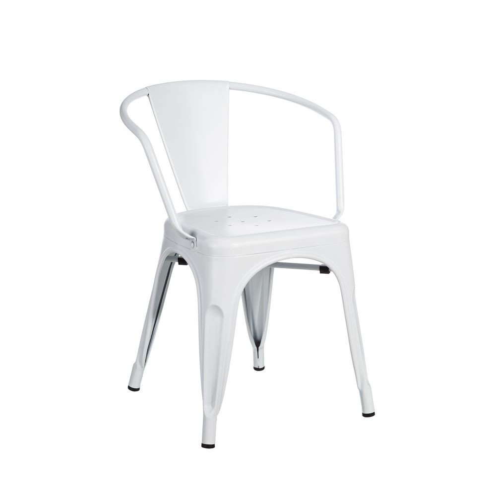 Chaise Blanc Métal Dallas industriel 53 x 54 x 71 -50 cm