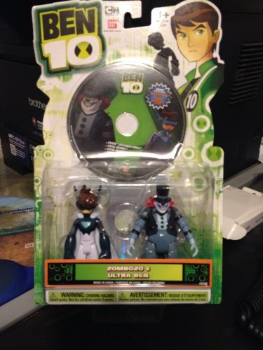 Ben 10 Ultra Ben and Zombozo Figure with DVD - Ben 10 Card Game