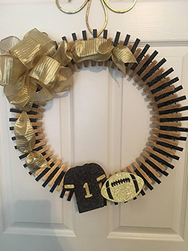 New Orleans Saints Clothespin Wreath -