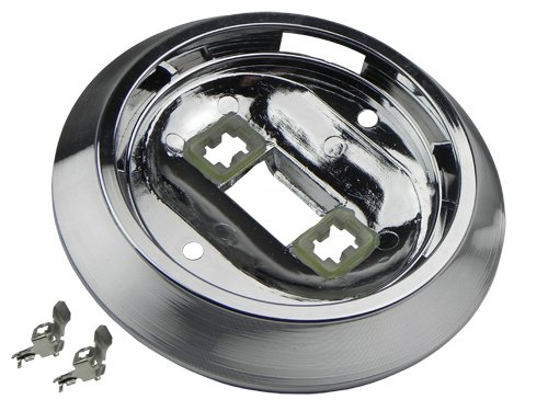 (J-9-5) Compatible With 1969-76 GM Models Roof Headliner Round Dome Light Lamp Lens Base Chrome Interior (J-9-12)