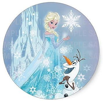 Amazoncom Frozen Elsa Olaf Birthday Edible Image Photo 8 Round