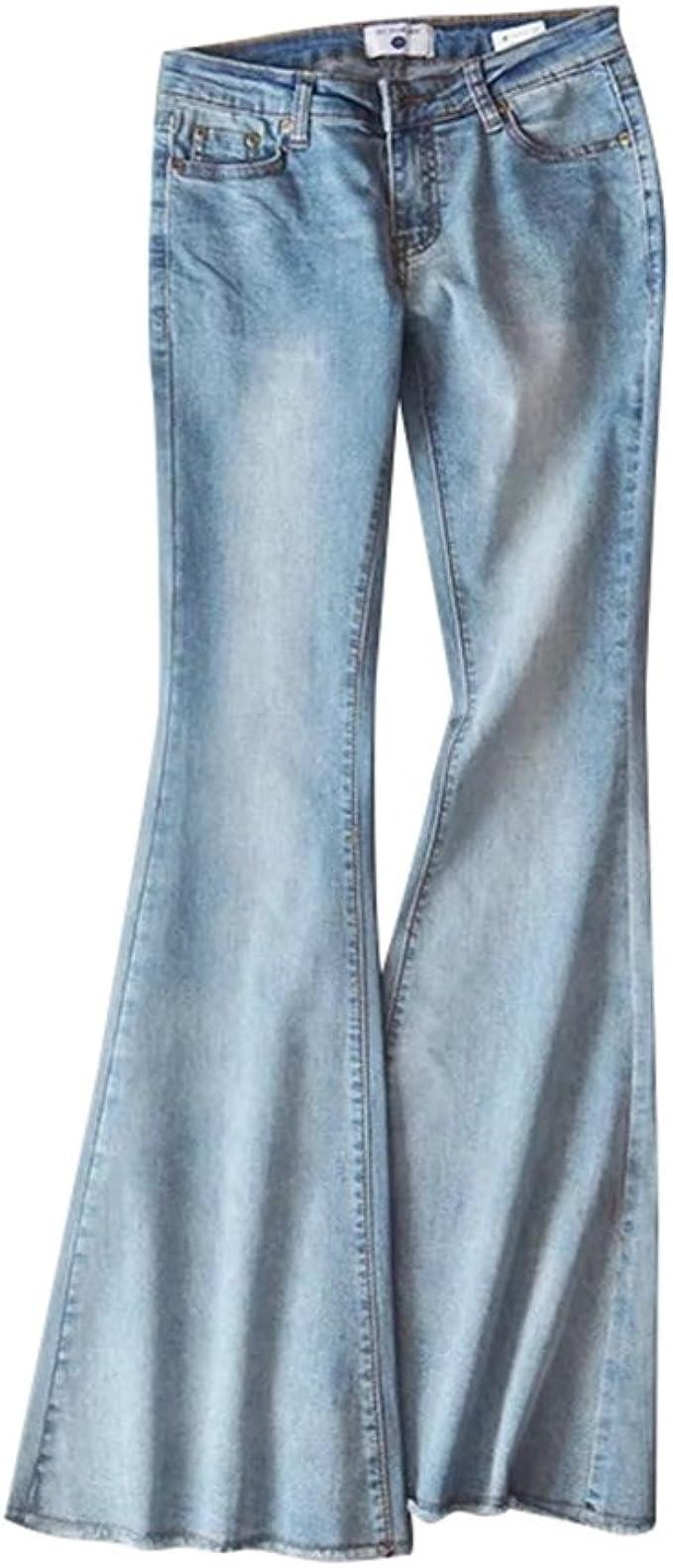 ZKOO Jeans Donna Bootcut Pantaloni Jeans a Zampa Casuale Denim Pantaloni