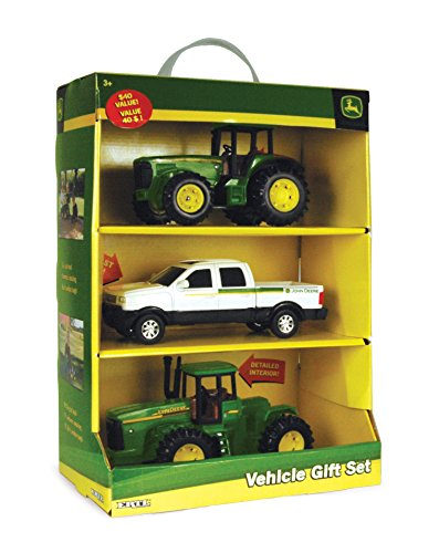 John Deere 3 Pack Vehicle Value - Tractor Farm Diecast